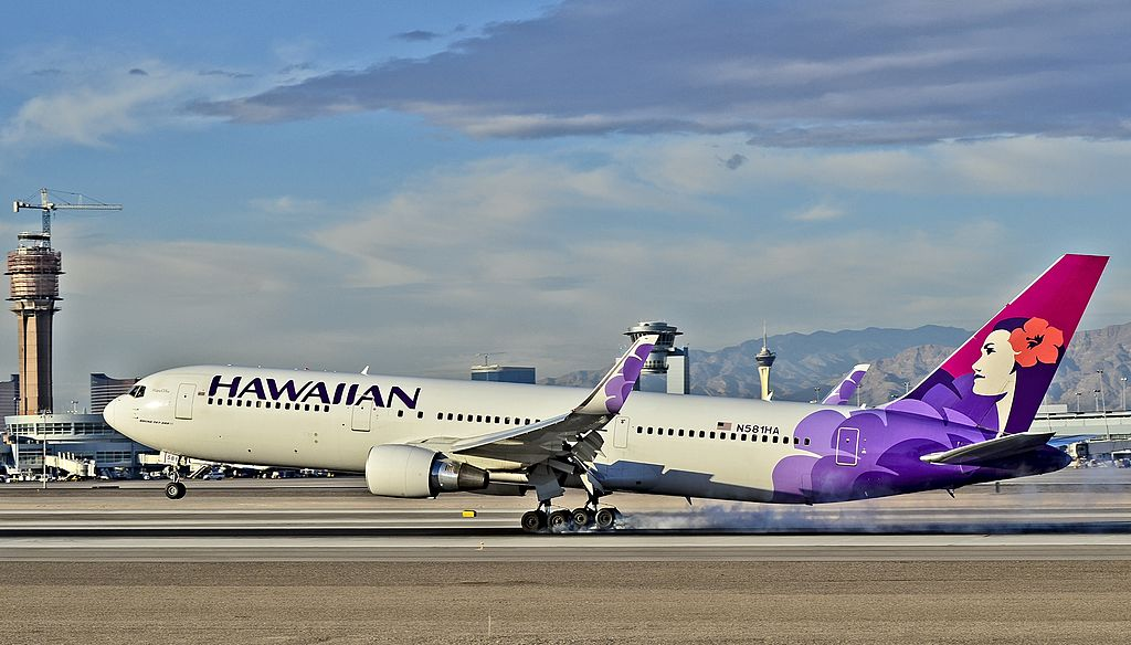 N581HA Manu o Ku Hawaiian Airlines Fleet Boeing 767 33AERWL at Las Vegas McCarran International LAS KLAS USA Nevada