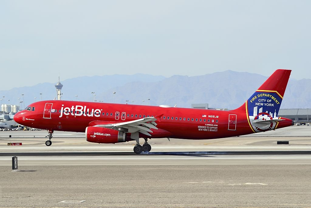 N615JB jetBlue Airways Airbus A320 232 CN 2461 Blue Bravest New York City Fire Department Special Livery Color