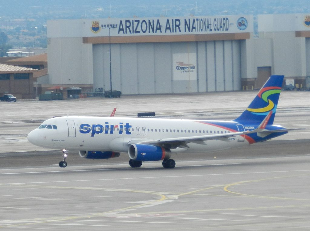 N626NK Spirit Airlines Airbus A320 200 departure Phoenix Sky Harbor International Airport