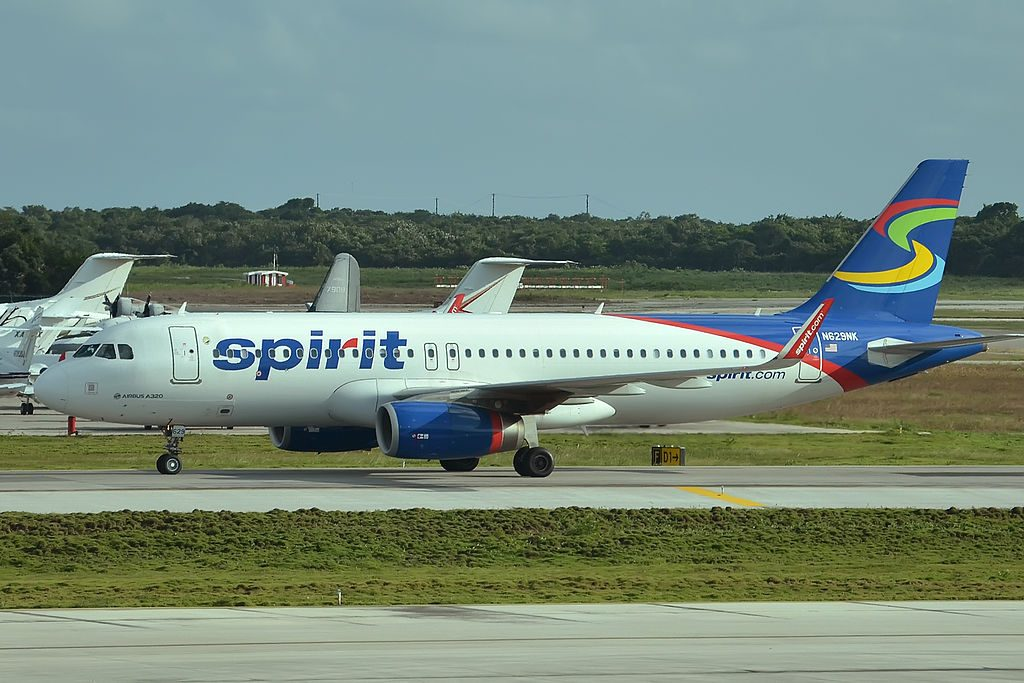 N629NK Airbus A320 232 Spirit Airlines at Cancun Airport Mexico
