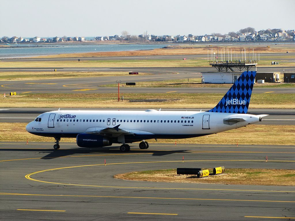 N641JB Blue Come Back Now Ya Hear JetBlue Airways Airbus A320 200 General Edward Lawrence Logan International Airport