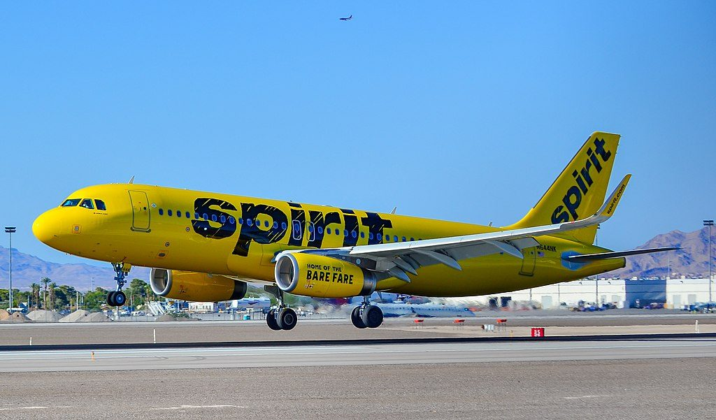 N644NK Spirit Airlines Airbus A320 232 cn 7156 arrival at Las Vegas McCarran International LAS KLAS USA