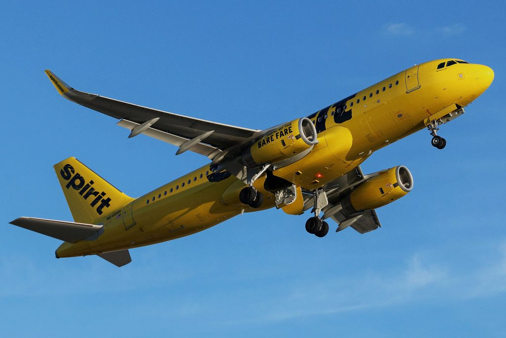 N648NK Spirit Airlines Airbus A320 232WL departing Cleveland Hopkins International Airport