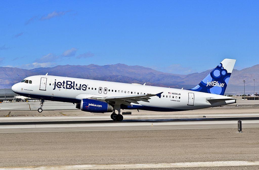 N656JB JetBlue Airways Airbus A320 232 CN 3091 California Blue at McCarran International LAS KLAS USA