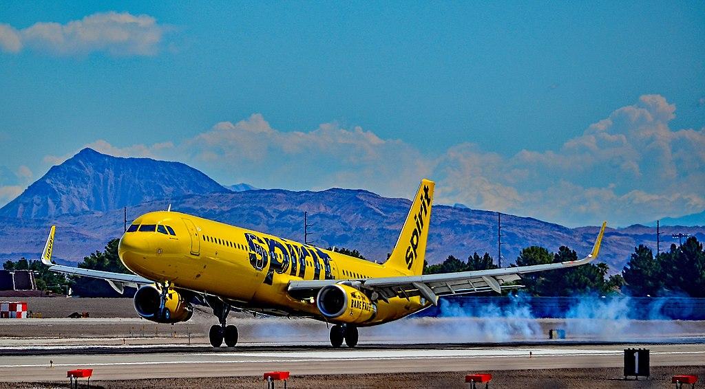 N659NK Spirit Airlines Airbus A321 231WL cn 6770 landing at Las Vegas McCarran International LAS KLAS USA