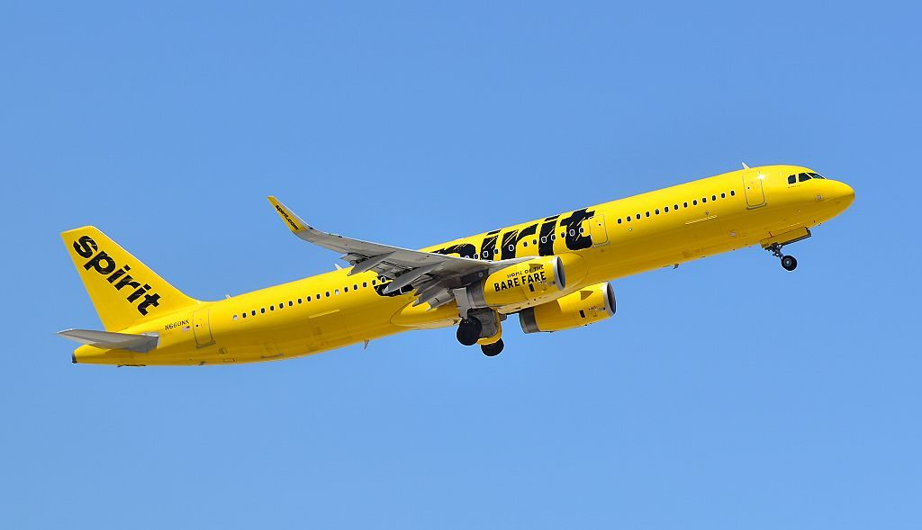 N660NK Spirit Airlines Airbus A321 231 cn 6804 departing Las Vegas McCarran International LAS KLAS