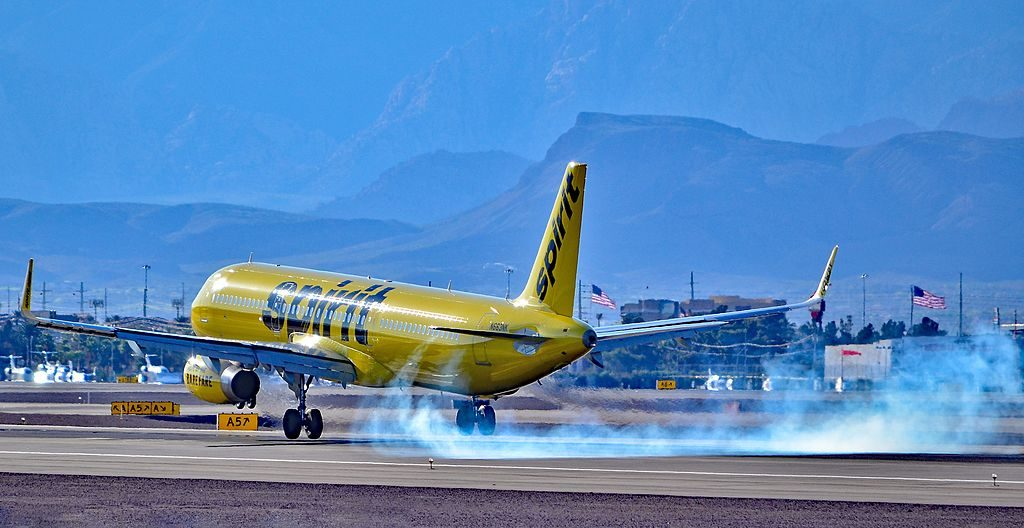 N663NK Spirit Airlines Airbus A321 231 cn 6994 hard landing at McCarran International Airport LAS KLAS USA