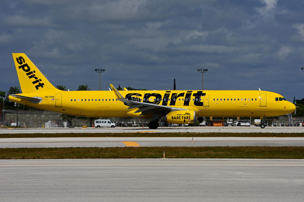 N670NK Airbus A321 231SL Spirit Airlines at Ft. Lauderdale International Airport FLL