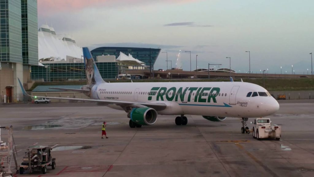 N704FR Frontier Airlines Airbus A321 200 Virginia The Wolf pushed back by tug