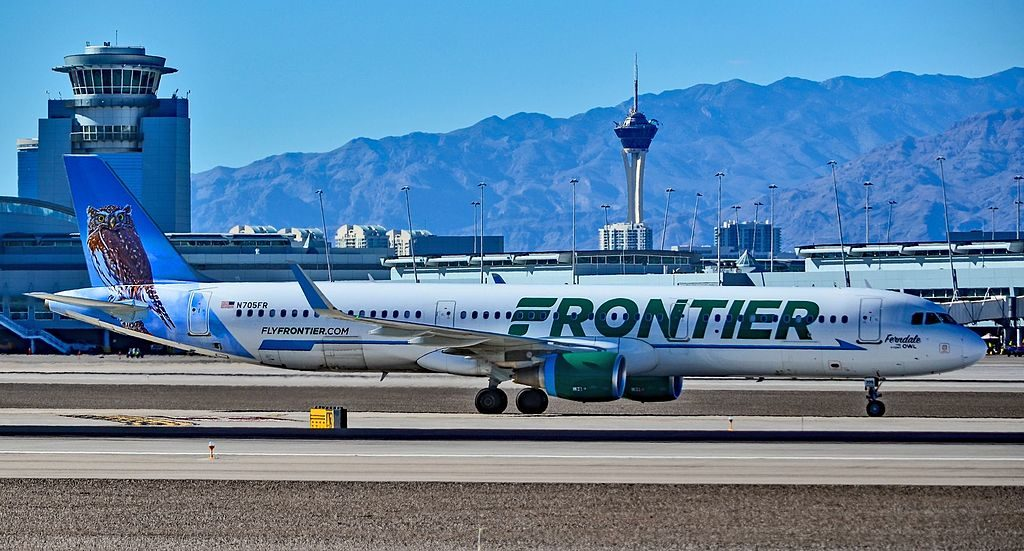 N705FR Frontier Airlines Airbus A321 211 cn 6891 Ferndale The Pygmy Owl at McCarran International Airport LAS KLAS USA