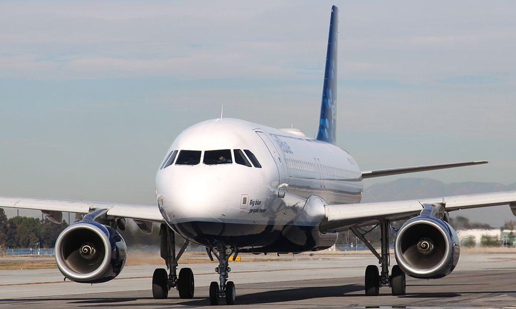 N705JB JetBlue Airways Fleet Airbus A320 200 Big blue people seater at Long Beach Airport