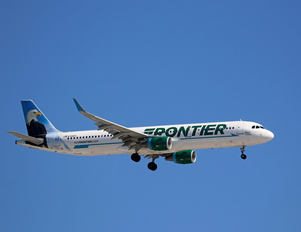 N709FR Frontier Airlines Airbus A321 200 Steve the Eagle