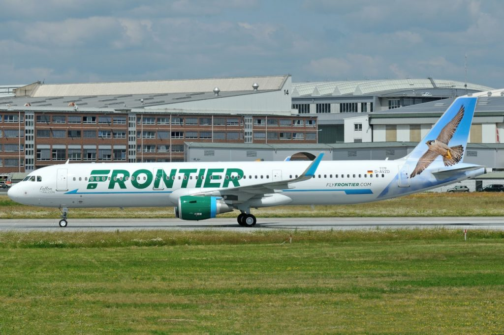 N710FR Frontier Airlines Aircraft Fleet Airbus A321 200 Fallon the Falcon