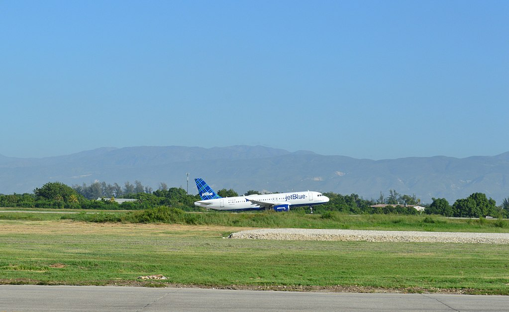 N712JB JetBlue Airways Enough about me... lets talk about blue take off at the Toussaint Louverture International Airport of Port au Prince