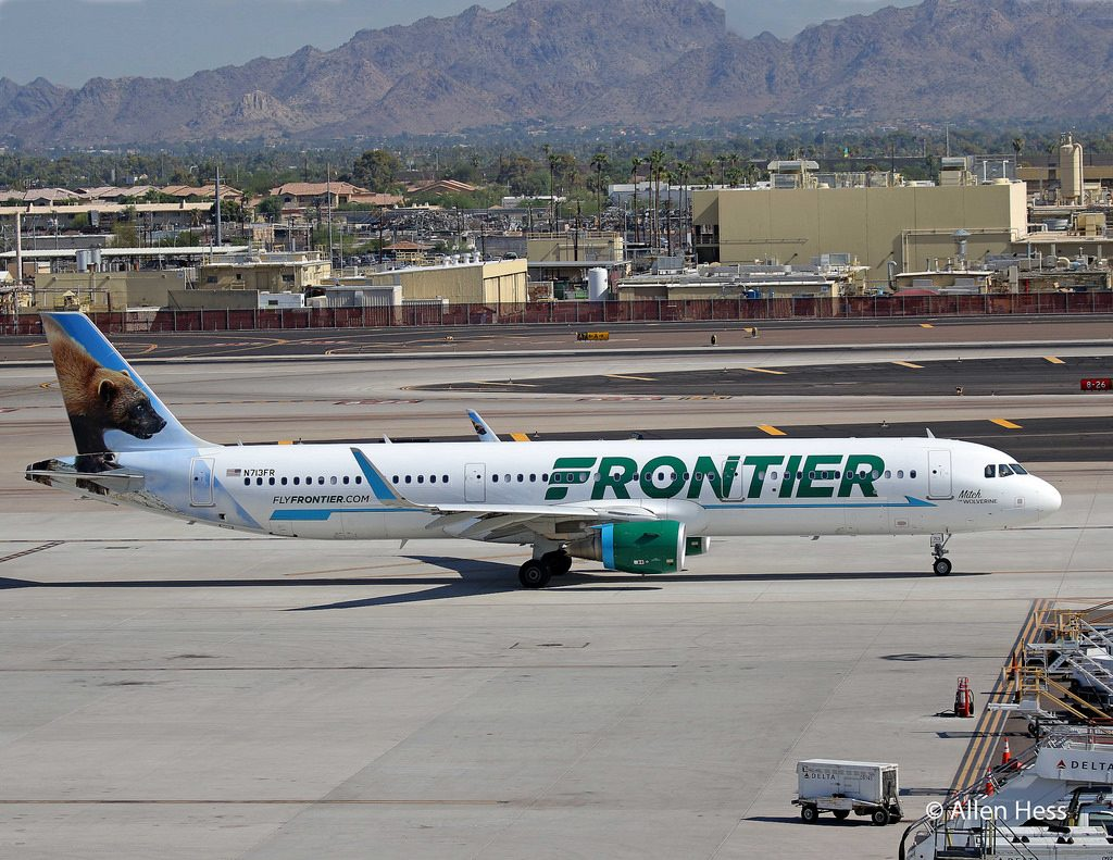 N713FR Frontier Airlines Airbus A321 200 Mitch the Wolverine @AllenHess