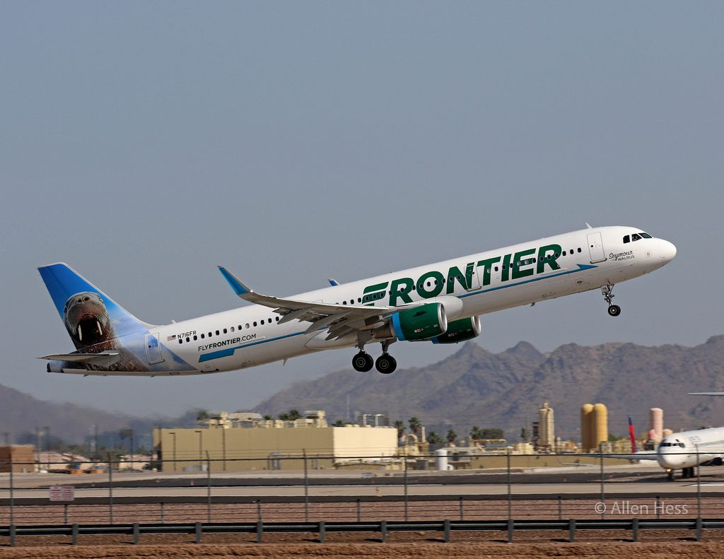 N716FR Frontier Airlines Airbus A321 200 Seymour the Walrus @AllenHess