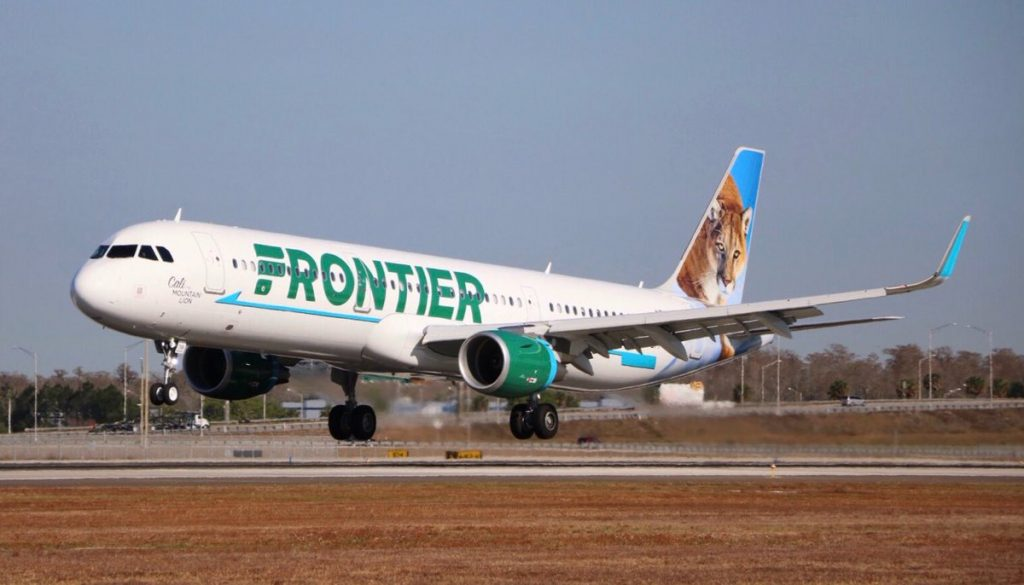 N718FR Airbus A321 211 Frontier Airlines Cali the Mountain Lion at Orlando International Airport