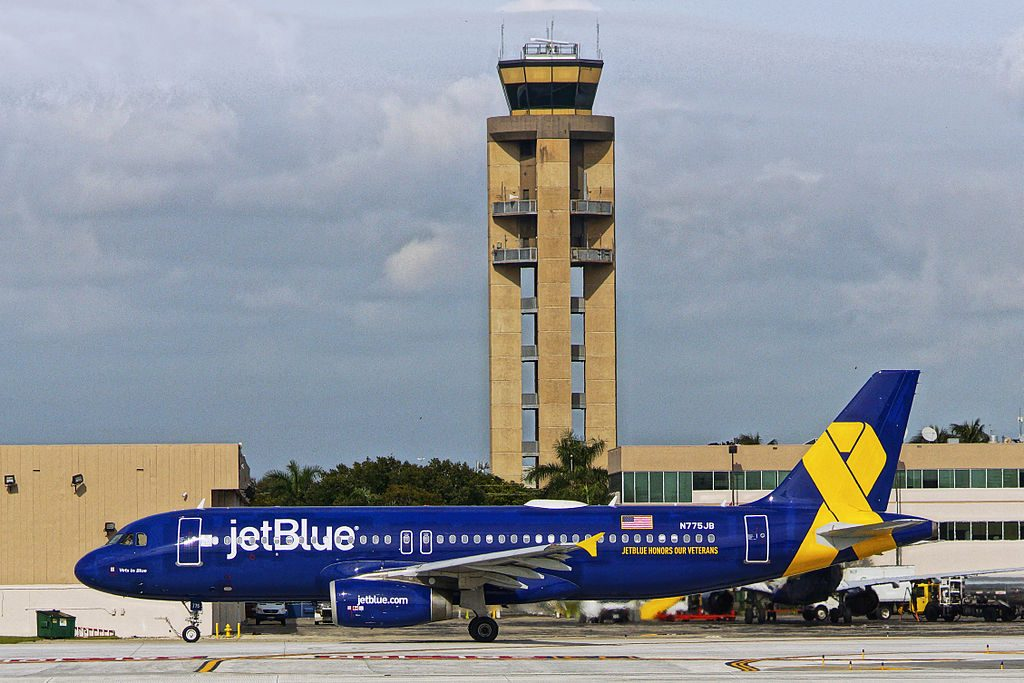 N775JB JetBlue Airways Airbus A320 200 Vets in Blue Special Livery at Fort Lauderdale Hollywood International Airport