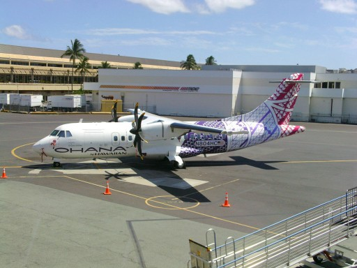 N804HC Ohana by Hawaiian ATR 42 500 propeller plane operated by Empire Airlines