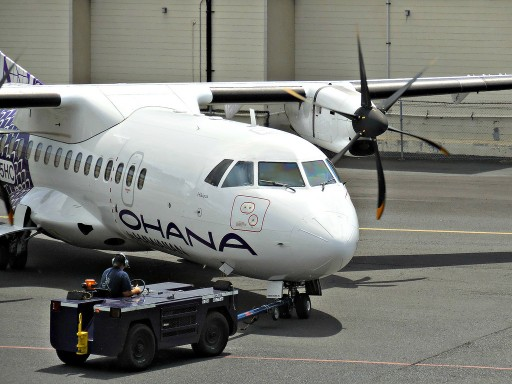 N805HC Ohana by Hawaiian turboprop airplane ATR 42 500 operated by Empire Airlines