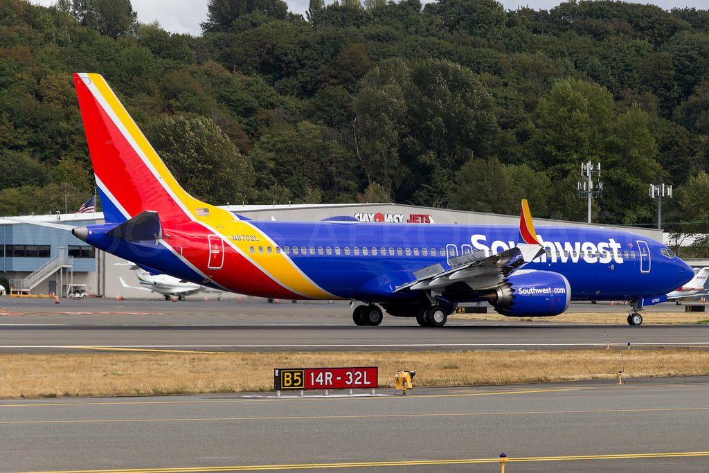 N8702L Southwest Airlines Boeing 737 Max 8 Narrow Body Aircraft Photos