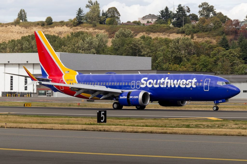 N8702L Southwest Airlines Fleet Boeing 737 Max 8 Narrow Body Aircraft Photos