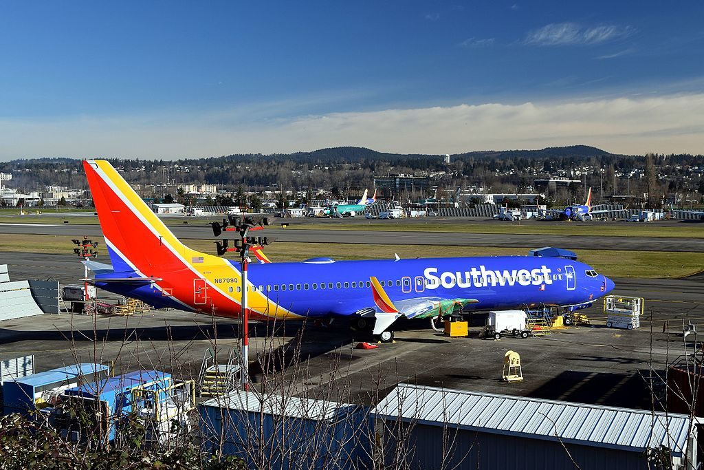 N8710M Boeing 737 8 MAX Southwest Airlines at Renton Municipal Airport