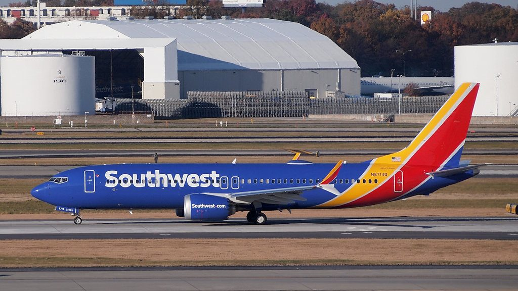 N8714Q Southwest Airlines Boeing 737 MAX 8 at Hartsfield–Jackson Atlanta International Airport