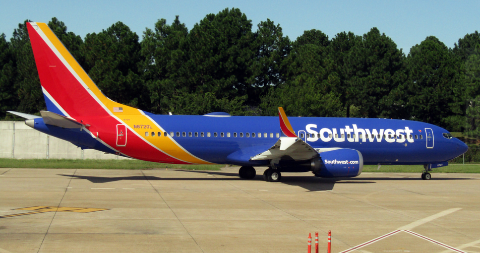 N8720L Southwest Airlines Aircraft Fleet Boeing 737 Max 8 Photos at Norfolk International Airport