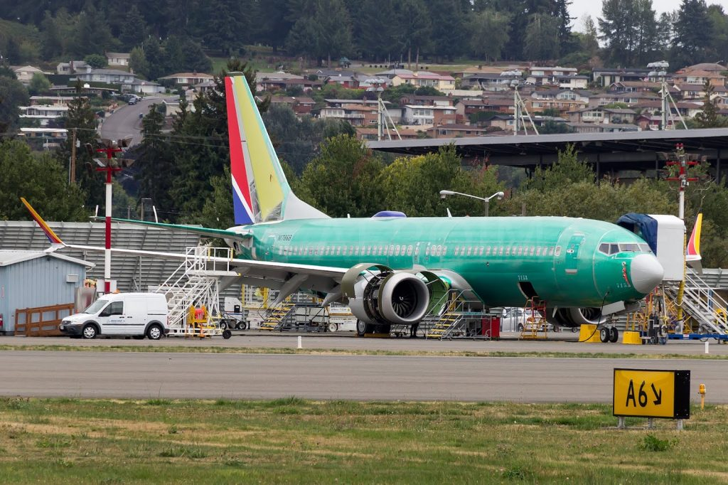 N8727M Boeing 737 Max 8 of Southwest Airlines manufacturing process phtoos