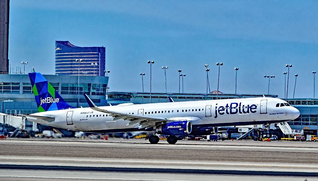 N956JT JetBlue Airways Airbus A321 231 cn 6791 The Bluer The Better at Las Vegas McCarran International LAS KLAS