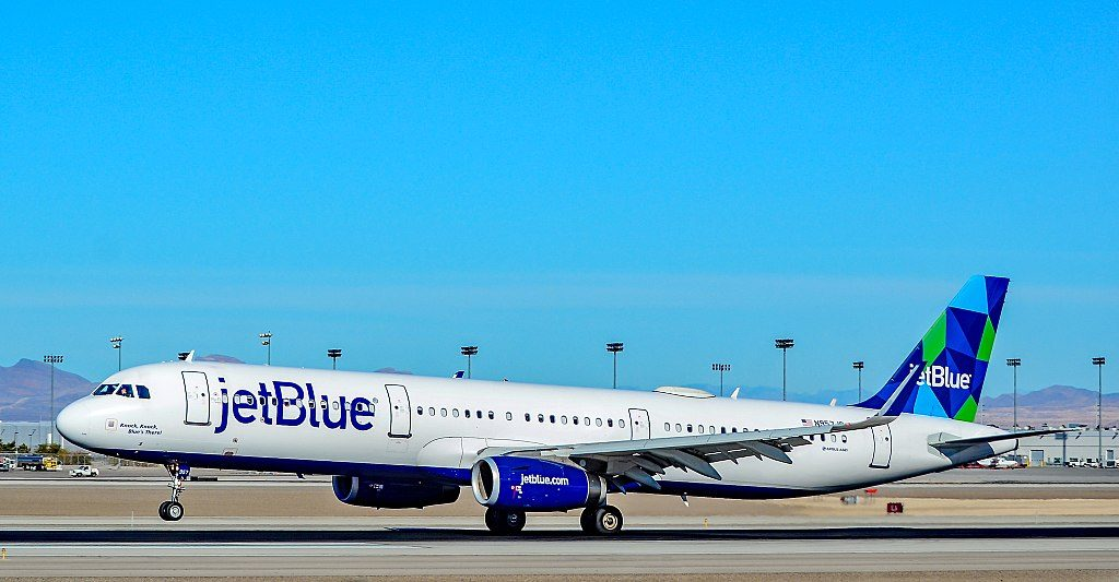 N957JB JetBlue Airways Airbus A321 231 sn 6809 Knock Knock Blues There at Las Vegas McCarran International LAS KLAS
