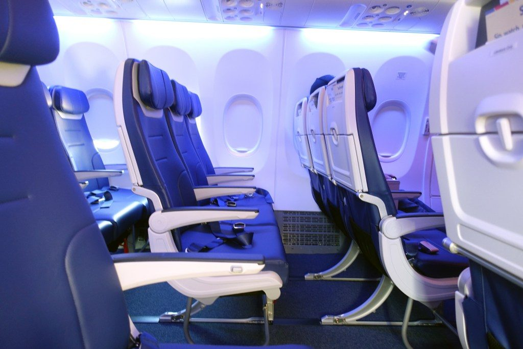 Southwest Airlines Boeing 737 Max 8 Economy Cabin Standard Seats Row Photos