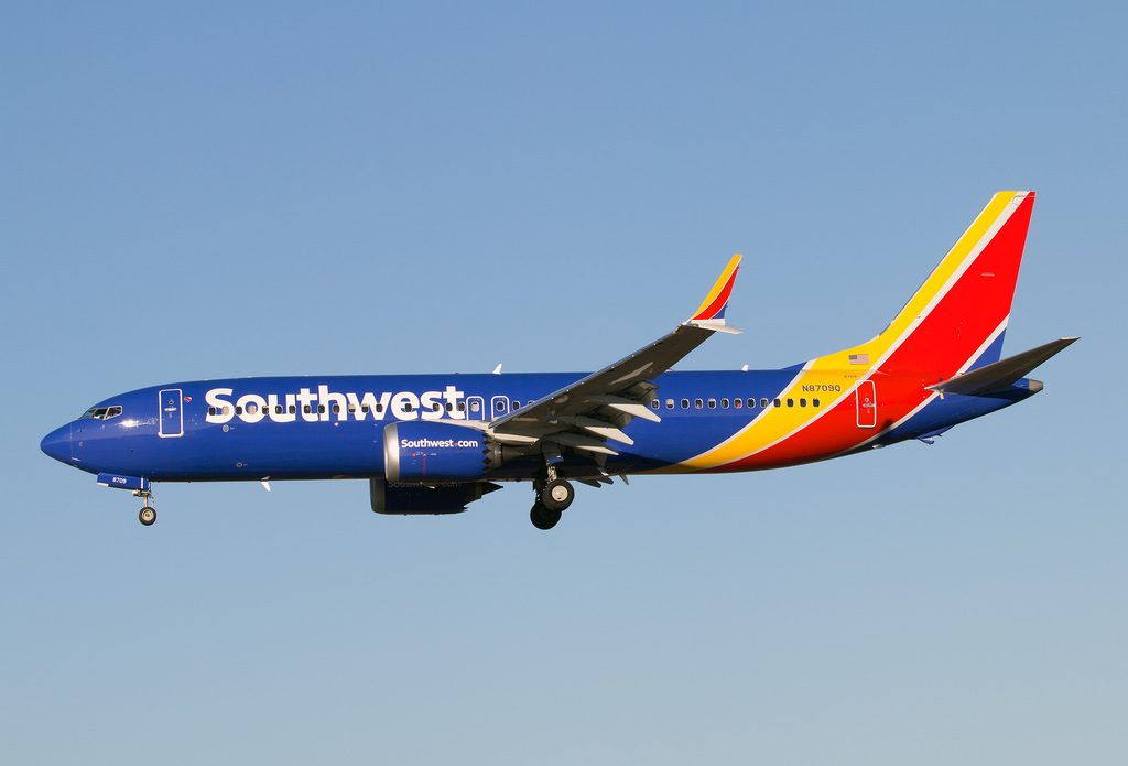 Southwest Airlines N8709Q Boeing 737 MAX 8 on final approach at BaltimoreWashington International Thurgood Marshall Airport