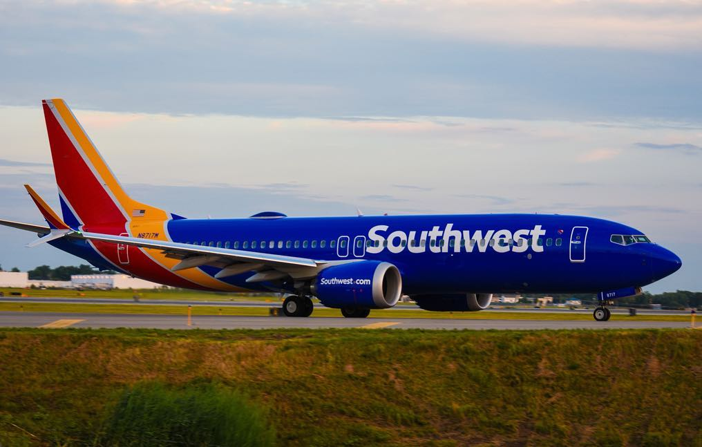 Southwest Airlines N8717M Boeing 737 Max 8 taxiing at Buffalo Niagara International Airport
