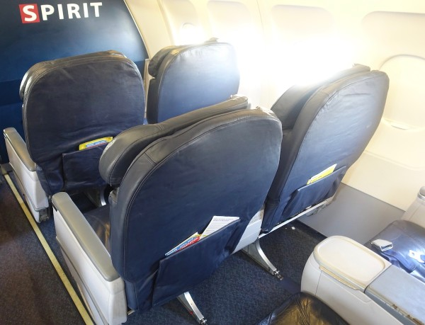 Spirit Airlines Airbus A319 100 Cabin Big Front Seats Bulkhead Row Photos