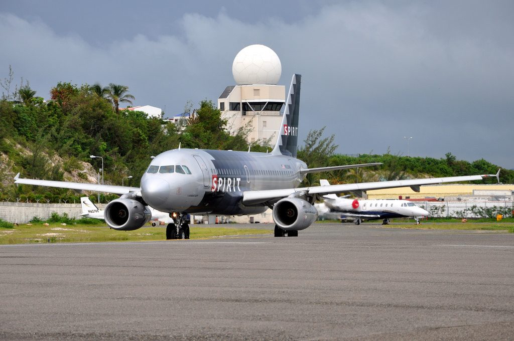 Spirit Airlines Airbus A319 100 N526NK at Princess Juliana International Airport