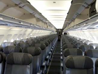 Spirit Airlines Airbus A319 100 economy cabin interior with 3 3 seats layout configuration