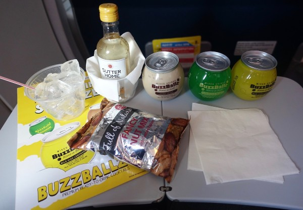 Spirit Airlines Airbus A319 100 onboard inflight services wine cocktails and snacks