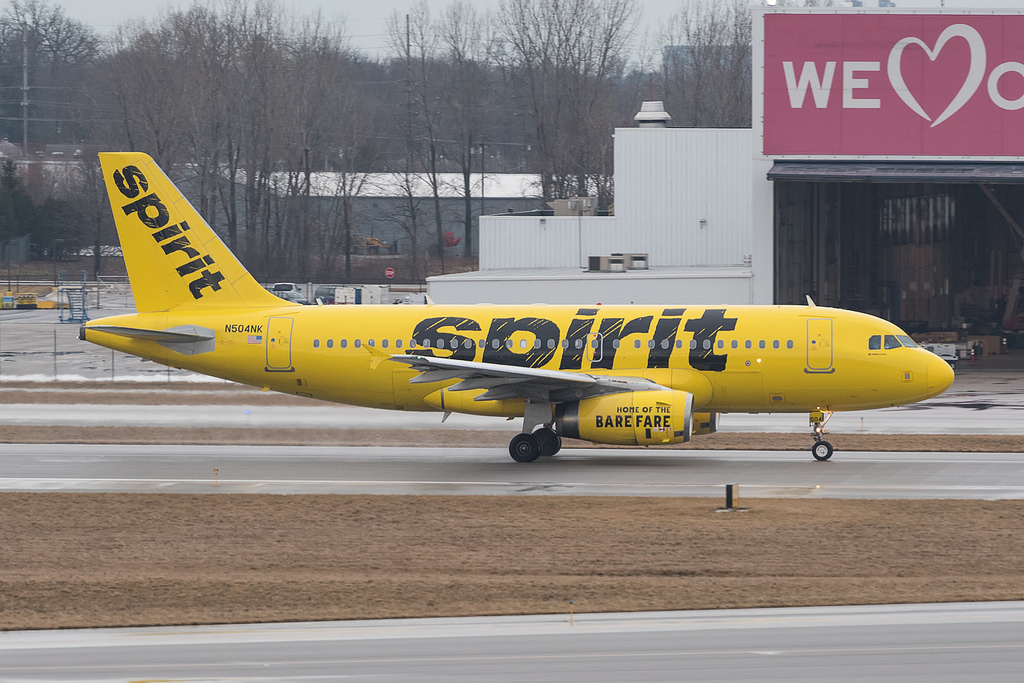 Spirit Airlines Airbus A319 132 N504NK cn 2473 at John Glenn Columbus International Airport