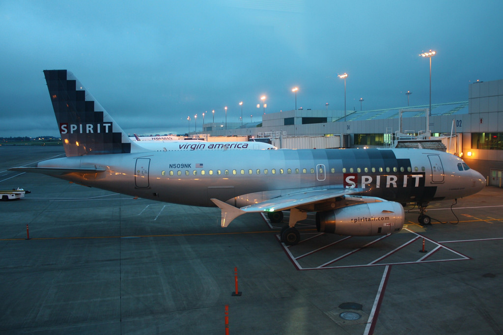 Spirit Airlines Airbus A319 132 N509NK at Portland International Airport