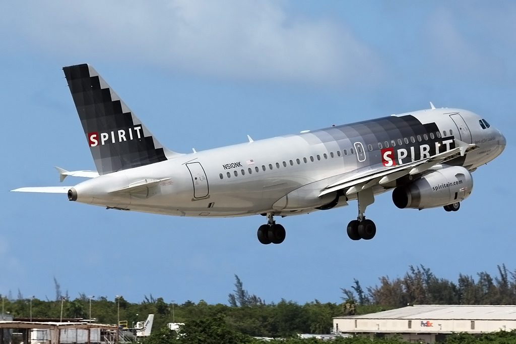 Spirit Airlines Airbus A319 132 N510NK Spirit of Fort Lauderdale departing Luis Muñoz Marín International Airport