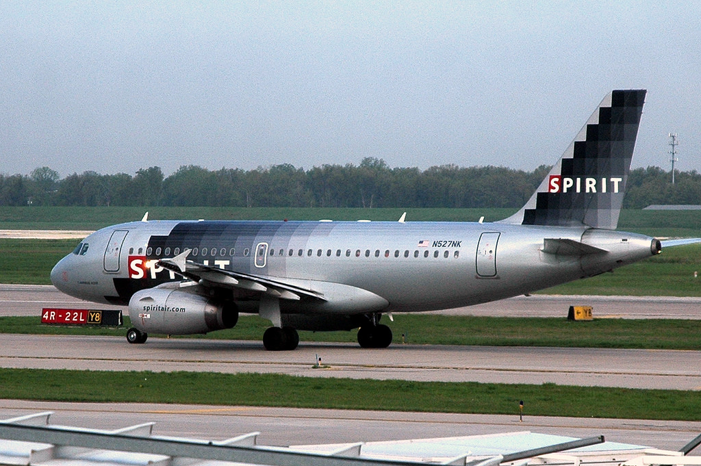 Spirit Airlines Airbus A319 132 N527NK at Detroit Metropolitan Wayne County Airport