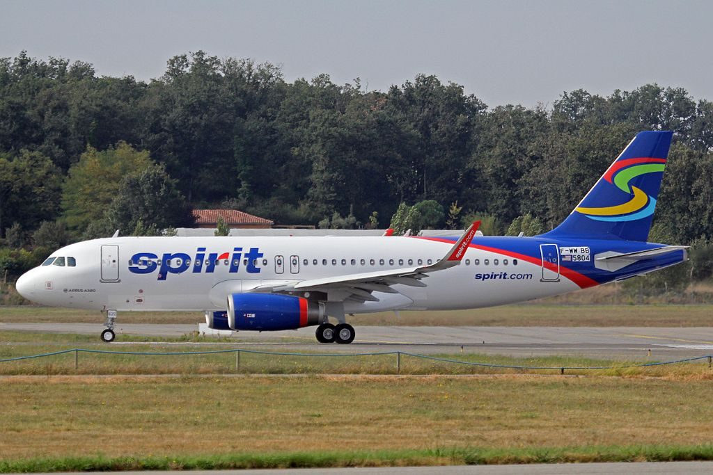 Spirit Airlines Airbus A320 232 N622NK at Toulouse Blagnac International Airport