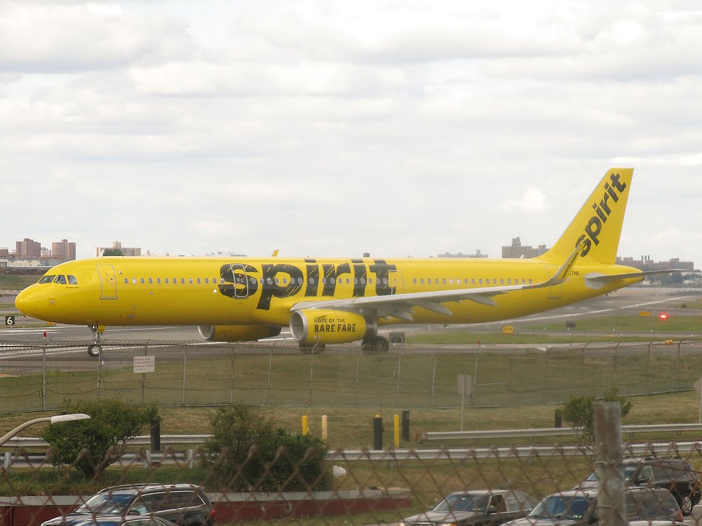 Spirit Airlines Airbus A321 200 N657NK taxiing at LaGuardia Airport LGAKLGA