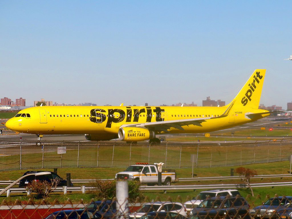 Spirit Airlines Airbus A321 231WL N658NK taxiing at LaGuardia Airport LGAKLGA
