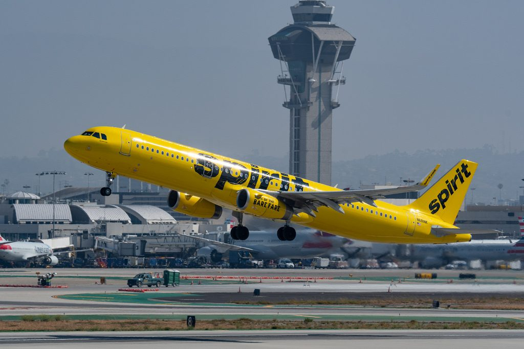 Spirit Airlines Airbus A321 231WL N681NK departing Los Angeles International Airport