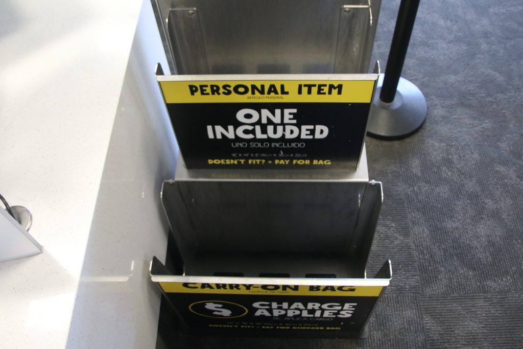 Spirit Airlines Boarding Personal Item Box