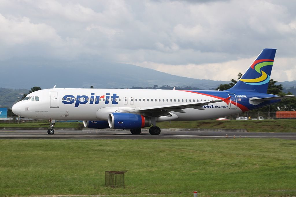 Spirit Airlines N607NK Airbus A320 200 at Juan Santamaría International Airport