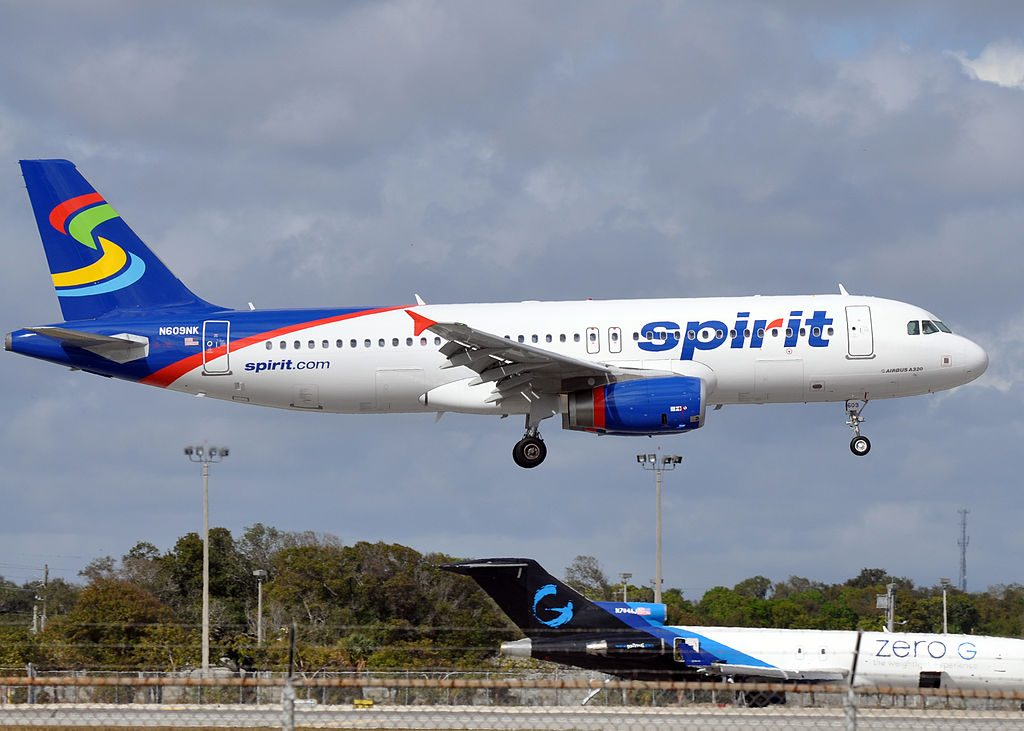 Spirit Airlines N609NK Airbus A320 200 landing at Fort Lauderdale – Hollywood International Airport